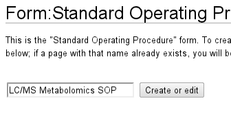 Entering the SOP name